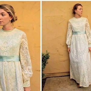 Vintage EMMA DOMB hippie boho Wedding Maxi DRESS